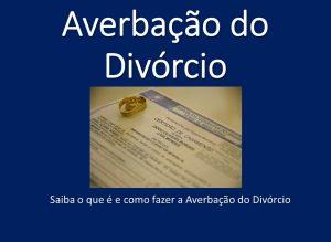 Averbação de Divorcio